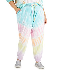 Trendy Plus Size Tie-Dyed Jogger Pants