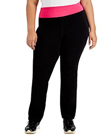 Plus Size Flex Stretch Active Yoga Pants, Created for Macy's