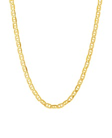 """Polished 20"""" Mariner Chain in Solid 10K Yellow Gold"""
