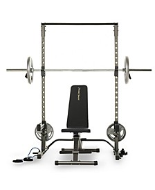 Multi-Function Adjustable Power Rack Squat Stand with 1000 Super Max Bench