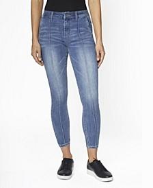 Juniors' High Rise Skinny Pin Tuck Jeans