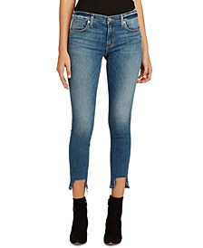 Krista Destroyed-Hem Super Skinny Ankle Jeans
