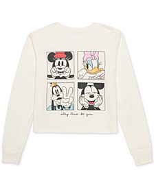 Juniors' Mickey Mouse Graphic-Print Top