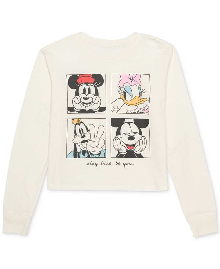 Disney - Juniors' Mickey Mouse Graphic-Print Top