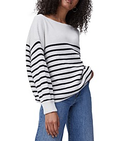 Lilly Mozart Cotton Striped Sweater