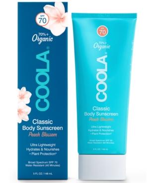 Coola CLASSIC BODY ORGANIC SUNSCREEN LOTION SPF 70 - PEACH BLOSSOM, 5-OZ.
