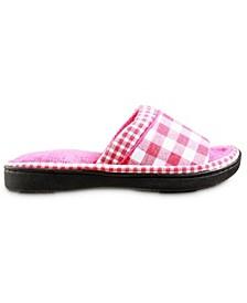 Isotoner Women's Wanda Gingham Slide Slippers
