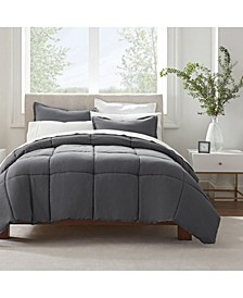 Simply Clean Microbe Resistant King Comforter Set, 3 Piece