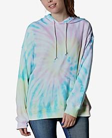 Juniors' Tie-Dye Graphic Hoodie