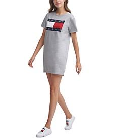 Logo-Print Cotton T-Shirt Dress