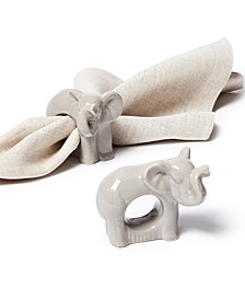 Exotic Escape Elephant Napkin Rings, Set of 4, Created for Macy's