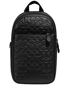 Men's Soft Signature Pebble Leather Metropolitan Backpack
