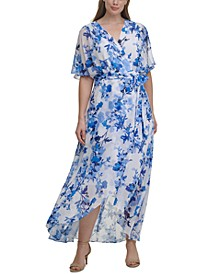 Plus Size Split-Sleeve Maxi Dress