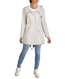 Women's Hooded Anorak Rain Coat