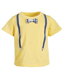 Baby Boys Suspenders Cotton T-Shirt, Created for Macy's