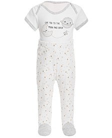 Baby Boys Twinkle Cotton Coverall & Footed Pants Set, Created for Macy's