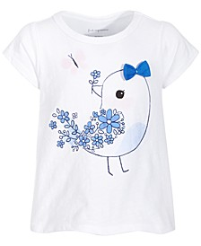 Baby Girls Blue Bird T-Shirt, Created for Macy's