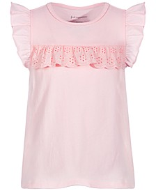 Toddler Girls Eyelet Ruffle Cotton Top, Created for Macy's