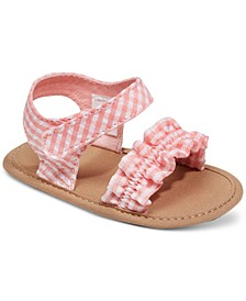 Baby Girls Gingham Sandals, Created for Macy's