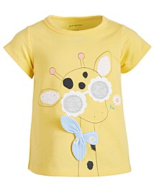 Baby Girls Cotton Giraffe T-Shirt, Created for Macy's