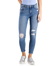 Juniors' Curvy-Fit Mid-Rise Skinny Jeans