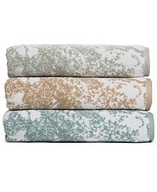 Cotton Diffused Marble Bath Towel Collection, Created for Macy's