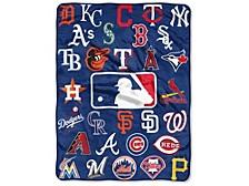 All-League Micro Raschel Homeplate Throw Blanket