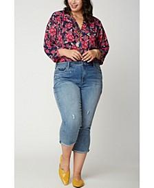 Women's Plus Size Chloe Skinny Capri Jeans