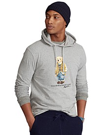 Men's Polo Bear Jersey Hooded T-Shirt