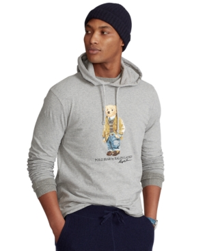 Polo Ralph Lauren MEN'S POLO BEAR JERSEY HOODED T-SHIRT