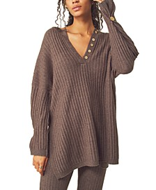 Around The Clock Ribbed-Knit Sweater