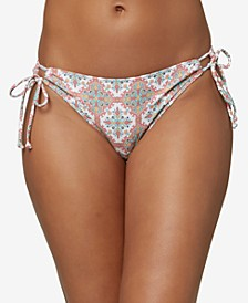 Juniors' Mina Alexa Printed Bikini Bottoms