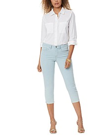 Chloe Cropped Tummy-Control Jeans