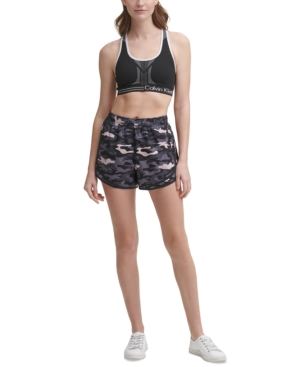 Calvin Klein Performance Printed Running Shorts In Trans Camo