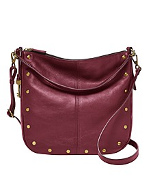 Jolie Leather Hobo with Studs