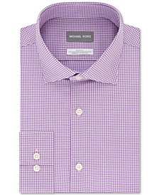 Men's Slim-Fit Lilac Non-Iron Stretch Performance Dress Shirt