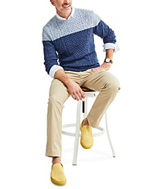 Men's Colorblocked Cable-Knit Sweater, Created for Macy's
