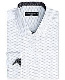 Men's Slim-Fit Non-Iron Performance Print Dress Shirt