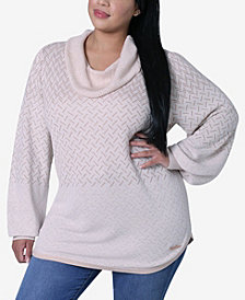 Women's Plus Size Round Hem Pullover Sweater