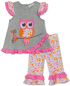 Baby Girls 2-Pc. Owl Top & Leggings Set