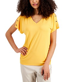 Split Grommet-Sleeve Top, Created for Macy's