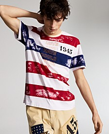 Ouigi Theodore for Men's Cotton 1945 Striped T-Shirt