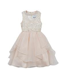Big Girls Sequin Embroidered Dress