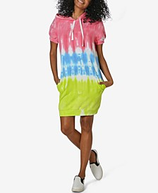 Juniors' Tie Dye Hoodie Dress