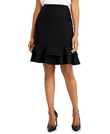 Ruffle-Hem Skirt
