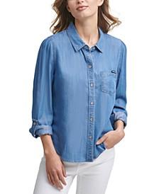 Tencel Roll-Tab Shirt