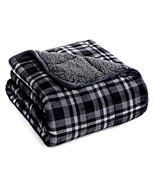 """15lb. Velvet to Sherpa Reverse Weighted Throw Blanket, 48"""" L x 72"""" W"""