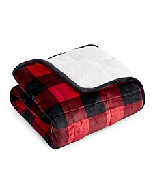 """Velvet to Sherpa Reverse Kids Weighted Blanket, 40"""" L x 60"""" W"""