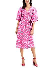 Floral Wrap Dress, Created for Macy's