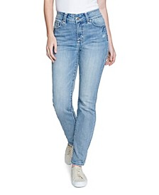 Women's Straight Leg Jean with Embroidered 'E' Loop Back Pocket